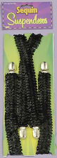 Sequin Suspenders Dance Broadway Dress Up Halloween Costume Accessory 4 COLORS