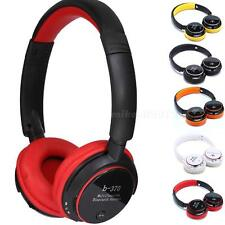 Stereo Bluetooth Headphone Card Headset With FM MP3 For iPhone Samsung HTC MKLG