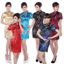 Chinese Women's Dragon&Phoenix Mini Cheongsam Evening Dress/QiPao mini dress