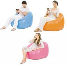 BESTWAY INFLATABLE CUBE SINGLE FLOCKED LOUNGE CHAIR COUCH SOFA BUBBLE POD COMFY