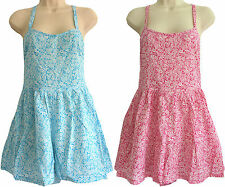 SHORTS PLAYSUIT by FAIRGROUND DITSY FLOWER Pattern Blue or Pink Sizes 6, 8 & 10