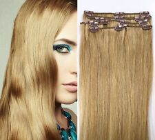 "24"" CLIP IN 120g 100% REMY HUMAN HAIR EXTENSIONS 8 PCS"