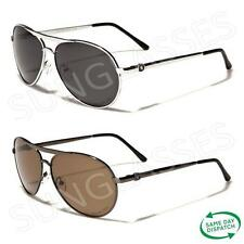 New Black Polarized Aviator Vintage Retro Mens Ladies Unisex Sunglasses UV400