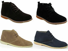 MENS BROWN SUEDE LACE UP DESERT STYLE ANKLE BOOTS SHOES SIZES UK 7-8-9-10-11-12