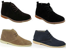 MENS BROWN SUEDE LACE UP DESERT STYLE ANKLE BOOTS SHOES TRAINERS 7-8-9-10-11-12