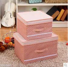 Cloth Toy Organizer Storage Box With Lid Foldable  Home Decor (2 Sizes)