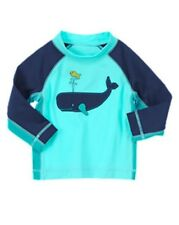 NWT Gymboree Smiley Whale Rash Guard OR Waves and Whale Swim Trunks Short NEW 5T