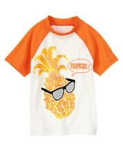 NWT Gymboree Cool Pineapple Rash Guard Swim Top OR Swim Trunk Board Shorts NEW