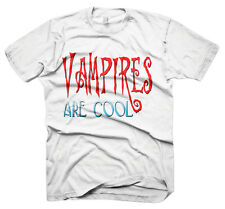 Mens Funny Saying T-Shirts-Vampires Are Cool-Funny Tees For Men