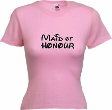 MAID OF HONOUR - WOMENS LADIES HEN PARTY FUNNY T-SHIRT MORE VARIATIONS AVAILABLE