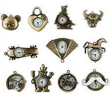 New 6 Different Cartoon Style Necklace/Pocket Watch with Chain+Gift-bag Jewelery