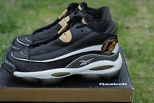 Mens Reebok Allen Iverson Answer I One DMX 10 Sneakers New, Black Gold 39577