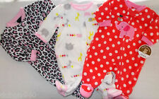 NWT Girls Preemie,0-3,3-6,6-9 Mo 1 pc Zoo Animal All Seasons Shoe Pajamas