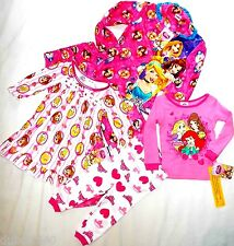NWT Girls sz 12,18,24 mo,4T,5T,4/5,7/8,10/12 Disney Princess 2 Pc Pajamas/Gowns