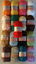 100%SOFT COTTON YARN,50G,GREAT COLOUR CHOICE,NO1 for QUALITY,PRICE& RELIABILITY