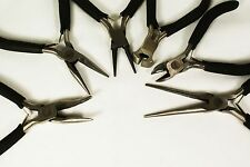 Mini Pliers Tool Beading Jewelry Bent Long Nose Cutting Needle Flat 1pc/Set of 6