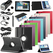"""360 Rotating Leather Hard Case Cover For Samsung Galaxy Tab 3 10.1"""" Tablet P5200"""