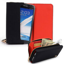 Kroo Signature Wristlet Wallet Case Handbag fits ZTE Mobile Cell Phones