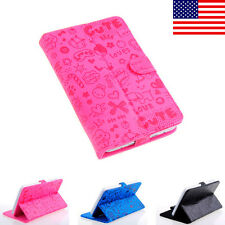"""CASE COVER FOLIO FOR 7 inch Verizon Ellipsis 7"""" 4G LTE ANDROID TABLET Boy Girl"""