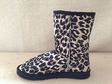 Lady ugg Boots Classic Short Synthetic Wool Colour Black Leopard On Special