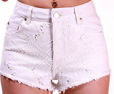 SPECIAL OFFER  MISS SELFRIDGE WHITE HIGH WAISTED BRODERIE SHORTS