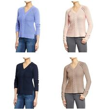 Old Navy Women's V Neck Cable Rib Knit Sweaters Braided Cotton Blend S M NWT NEW