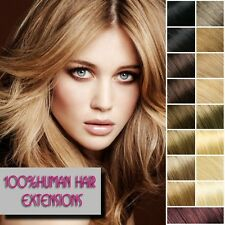 Clip In Remy 100% Human Hair Extension 8Pcs Full Head 16-26inch