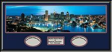 USA City Skylines Deluxe Framed D/Matted With 2 Photos Opening-A to M- New