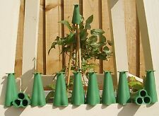 PYRAMID 3 CANE RUBBER CANE TOPPERS / CAPS FOR GARDEN SAFETY