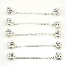 5x, 10x Silver Screw Stopper Safety Silver Chain Charm fit European Bracelets