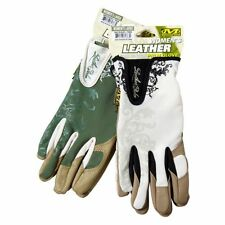 Mechanix Wear WOMENS GLOVES Leather Palm Glove Green & White, Medium & Large