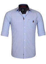 Sting Blue Solid Slim Fit Casual Shirt