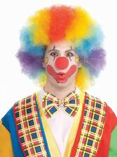 Deluxe Colorful Clown Wig Rainbow Afro Fancy Dress Halloween Costume Accessory