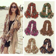 2014 Vintage Style Women lady Bohemia Totem Flowers Long Scarf Shawl Wrap W012a
