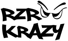 RZR Krazy Window Decals Square  / Vinyl / 5 Inches Tall