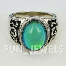 New Awesome Retro Oval Mood Ring Multi Color Change Free Color Chart & bag