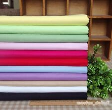 11 Assorted Solid Color Pre-Cut Charm Cotton Quilt Fabric Square or By the Yard