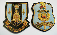 40 COMMANDO ROYAL MARINES GOLD WIRE BLAZER BADGES - 2 TYPES AVAILABLE
