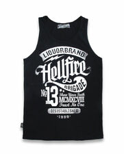 Liquorbrand Trust No One Hellfire Rockabilly 13 Singlet Muscle Tank Top Punk Tee