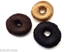 Small Synthetic hair bun ring scrunchie ballet hair accessory donut Bridal