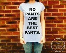 No Pants Are The Best Pants T Shirt Top Womens Girls Mens Hipster Meow CC Vogue