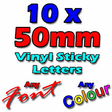 """50mm/2"""" Self Adhesive Sticky Vinyl Letters Signs, Shops, Vans, Crafts - Stickers"""