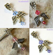 SWAROVSKI CRYSTAL Angel CHARM BEAD For European BRACELET-  Choice of Colours
