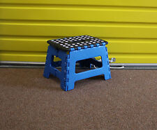 New Folding Step Stool Kitchen Garage Easy Storage Foldable Chair Seat For Home