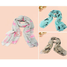 New Women Running Horse Print Fashion Long Scarf Shawl Wrap Stole Voile Gift