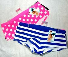 NWT Womens Regular 6,7,8 Boyshorts Striped Polka Dots Solids 2 Pack Panties :)