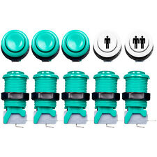 8 PCS Green HAPP Style Push Button + 2x Start Push Buttons For Arcade MAME JAMMA