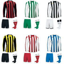 JOMA COPA STRIPE FOOTBALL TEAM KIT STRIP SHIRTS, SHORTS,SOCKS MENS ADULTS