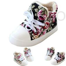 Children Thick Flower Floral Baby Kids high-top Canvas Shoes Boys Girls Sneaker
