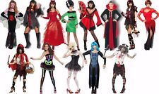 Ladies & Mens Halloween Costumes S M L Zombie Witch Devil Vampire Fancy Dress!